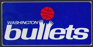 "1980s Washington Bullets Logo Sticker 7.5"" x 3.5"" *S76"
