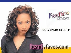 "YAKY CANDY CURL 14"" - FREETRESS WEAVE SYNTHETIC HAIR EXTENSION"