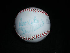 1960's STAN MUSIAL SIGNED STAN THE MAN SPORTING GOODS BASEBALL CARDINALS AUTO
