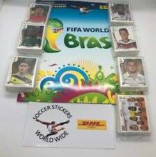 Panini World Cup 2014 Brazil - complete set of 640 stickers + empty album NEW