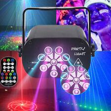128 Patterns Sound Active Laser Stage Light LED RGB Party Disco Dance Lighting