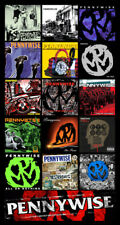 "PENNYWISE album discography magnet (4.5"" x 3.5"") punk rock never gonna die"
