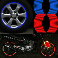 16 Strips Wheel Sticker Colorful Reflective Rim Stripe Car Motorcycle Tape Decal