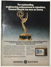 1978 GE General Electric Emmy VIR Technology Full Page Print Advertisement Ad