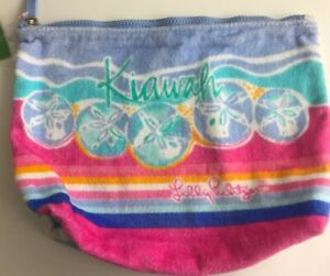 NWT Lilly Pulitzer Destination Pouch Kiawah Terry Cloth Beach Accessory Towel