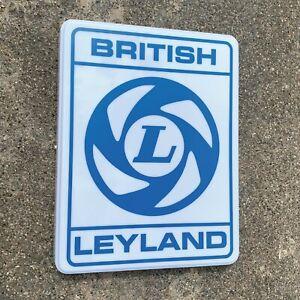 BRITISH LEYLAND ILLUMINATED LED LIGHT BOX WALL SIGN GARAGE GAS OIL MINI AUSTIN