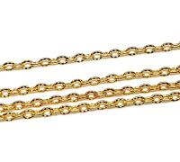 300cm Metallkette Gold Oval ring 4mm Schmuckkette für Halskette Armband Best K13