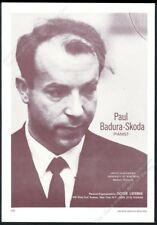1970 Paul Badura-Skoda photo piano recital tour vintage trade print ad