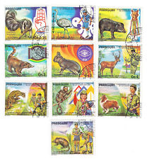 PARAGUAY Sc 2036 used 10 v  1982 - ANIMALS AND SCOUTS
