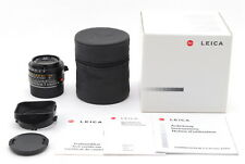 [TOP MINT IN BOX]Leica Summicron-M 35mm F/2 ASPH E39 w/Hood,Case From Japan