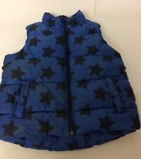 Next Boys Blue Stars Padded Gilet Age 4-5 Years Sleeveless Puffa Fleece Lined