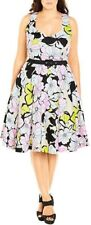 Brand New City Chic Dress - Size M (18) - 98% Cotton - ETCHED FLORAL - Last one!