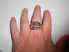 Paparazzi Stretchband Ring (new) THE POINT OF NO RETURN - SILVER W/TINY STONES
