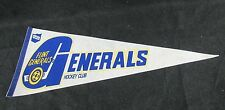 Vintage Flint Generals IHL Felt Hockey Pennant Defunct Team K121