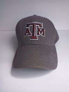 Russell Athletic Texas A&M Aggies Gray Adjustable Hook Loop Embroidered Hat