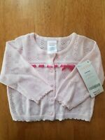 GYMBOREE INFANT GIRLS POINTELLE PINK SWEATER CARDIGAN NWT 3-6M
