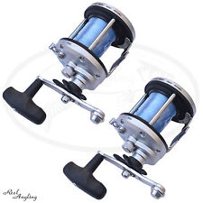 Lineaeffe JD 500 Multiplier Boat Sea Fishing Reel With 50lb Line Preloaded