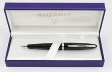 Waterman Carene Ballpoint Pen BLACK SEA Silver Trim NEW