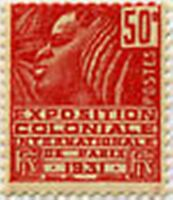 """FRANCE STAMP TIMBRE N° 272 """" EXPOSITION COLONIALE PARIS 50 C ROUGE """" NEUF x TB"""