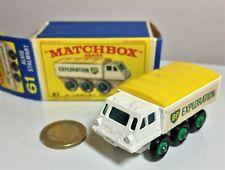 Matchbox Lesney #61 Alvis Stalwart BP Exploration, Original Box, 60s/70s