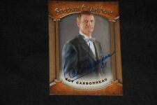 GUY CARBONNEAU 2014 UD GOODWIN CHAMPIONS SIGNED AUTOGRAPHED CARD #27 CANADIENS