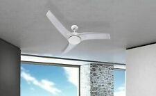 """Modern Indoor Ceiling Fan Light with Remote Control Primo Silver 132cm / 52"""""""