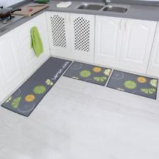 Absorbent Kitchen Runner 2-Piece Non-Slip Kitchen Mats #6 WEICHUAN Kitchen Rug Set Comfort Runner Rug Set for Kitchen Dustproof Doormat