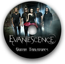 EVANESCENCE ROCK GLAM METAL GUITAR TABS TABLATURE SONG BOOK SOFTWARE CD
