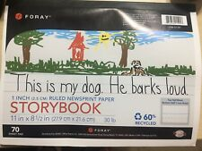 Foray Red/Blue-Ruled Storybook Paper For Grades K-1, 70 Sheet Pad New (Landsc