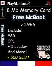Free McBoot FMCB 1.966 PlayStation 2 PS2 8 Mb Memory Card mc boot freemcboot opl