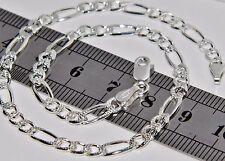 925 Sterling Silber Damen massive Figaro Panzerkette Fußkette/Knöchel Armband - 10 Zoll