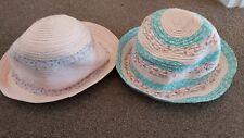 Girls age 1-3 years hats x 2 GEORGE