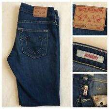 True Religion Womens Johnny Straight Leg Jeans Sz 25 Dark Blue Made In USA