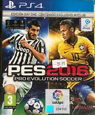 PES2016 PS4 NUEVO PRECINTADO EDICION DAY ONE MYCLUB PRO EVOLUTION SOCCER 2016