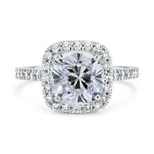 2 Ct Cushion Cut D/Si1 Diamond Cushion Halo Solitaire Engagement Ring 14K Gold