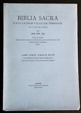 BIBLIA SACRA 4 LIBRI IOSUE IUDICUM RUTH Bibbia 1939 Giudici Giosuè Ruth Monaci