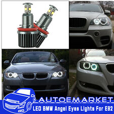 80W High Power Error Free CREE BMW E92 H8 LED Angel Eyes Halo Ring Light Bulbs
