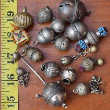 Kuchi Pendants afghan Antique Tribal Craft Jingle Bell Chain Bead Stones Dangle