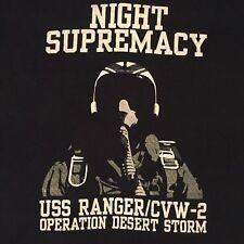 VTG Desert Storm Navy T-Shirt USS Ranger /CVW-2 Aircraft Fighter Pilot Jet