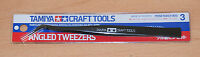 Tamiya 74003 Craft Tools, Angled Tweezers for RC & Plastic Kits, NIP