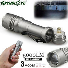 Skywolf Auge Cree Q5 Led 5000LM Aa / 14500 3 Modi Riemen Zoombare Taschenlampe