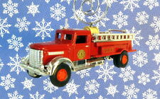 Custom Christmas Ornament 1/64 Scale Red Fire Truck Engine FDNY New York