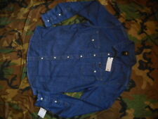 ORIGINAL mans LEE blue denim SHIRT KANSAS WESTERN AMERICAN bnwt NEW S - M MEDIUM