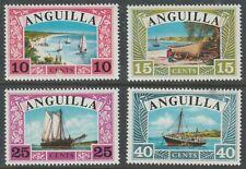 Anguilla 1968 #32-35 Sailboats (set of 4) - MNH