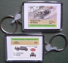 1921 Bugatti Type 13 Brescia Car Stamp Keyring (Auto 100 Automobile)