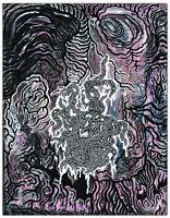 Original JUSTIN AERNI Painting circa 2014 dark art macabre : VIRUS