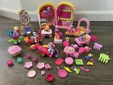 Huge MY LITTLE PONY Lot Furniture Dishes Scooters Ponies Popcorn Theater