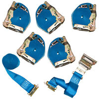 """6 Pack of Cargo Control Ratchet Straps, 2"""" x 20' with E Track Fittings"""