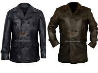 German Submariner WW2 Vintage Men's Black Leather Jacket Coat BNWT XS S M L XL
