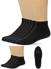 Hanes Men Comfort Cool Vent Ankle Low Cut Socks Size 10-13 Pack of 6 Pairs Black